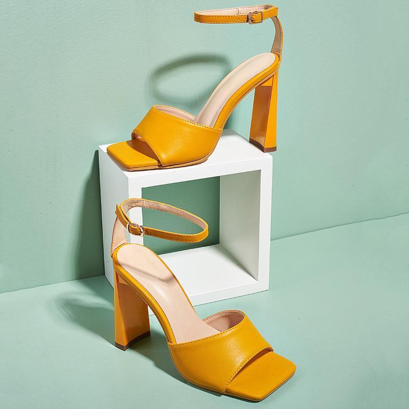 Il grande formato Scarpe estate nuove donne sexy tacchi alti sandali femminili peep toe di moda fibbia sandali Femme casuale abbigliamento da lavoro