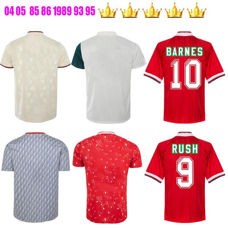 1985 1986 1989 93 94 95 96 1994 1996 Rush Torres Kuyt Fowler John Barnes Retro Soccer Jersey 1990 Home Away Classic Vintage Football Shirts
