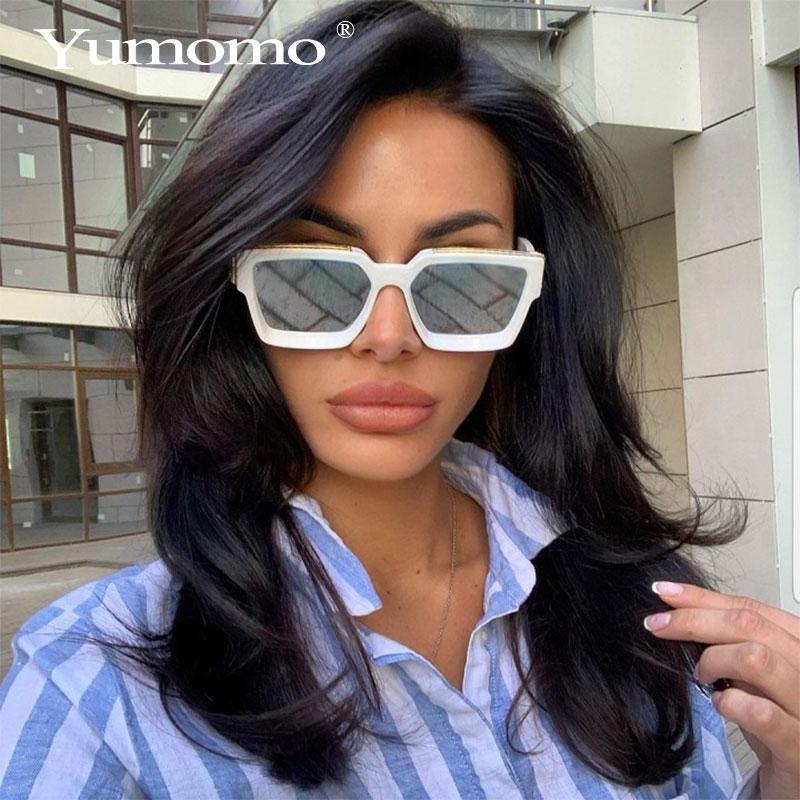 Homens Retro Marca Designer de moda nova praça óculos de sol das mulheres do vintage colorido Sun Óculos Feminino Eyewear UV400 Óculos de Sol