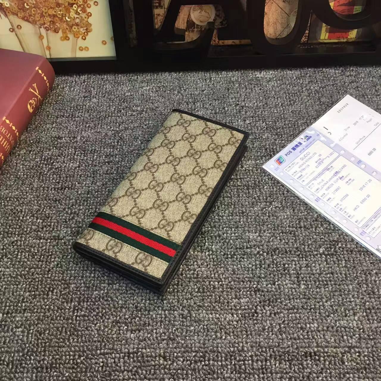 Качество бумажники женщин кожаный кошелек Мода Изысканный Workmanship High End Атмосфера Letter Pattern Красный и зеленый ленты