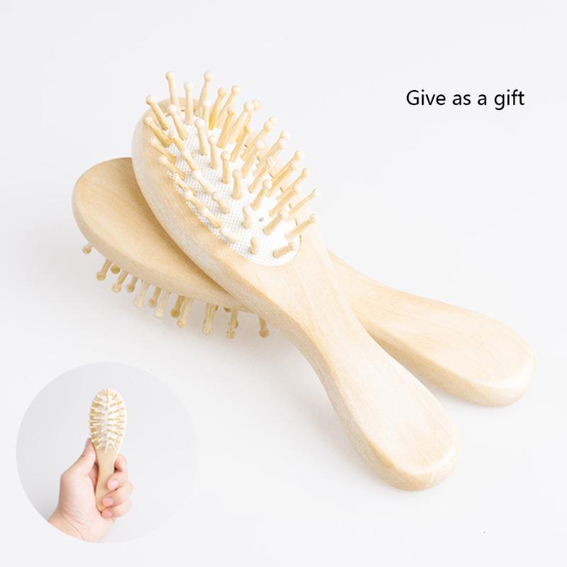 Aria ammortizzatore di massaggio pettine legno pettine 16 cm Airbag rotondo salone di bellezza modella signora capelli ragazza strumento di styling