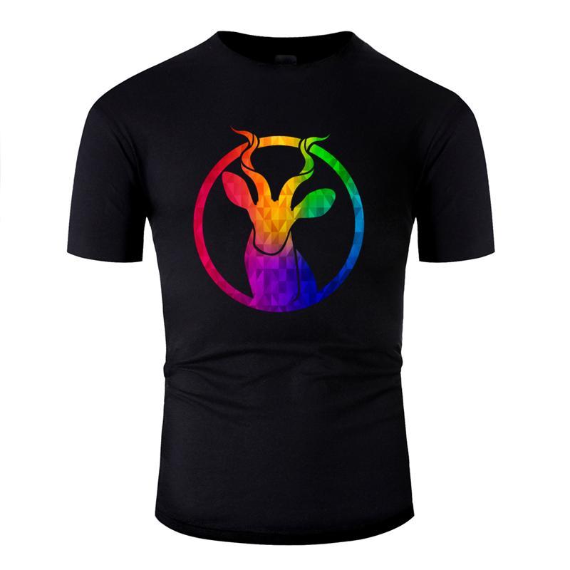 Tasarım Mizah Psychedelic Hippi Impala Grafik Harajuku Renkli T Gömlek Kawaii Erkekler Tişört Hediye Tee Tops