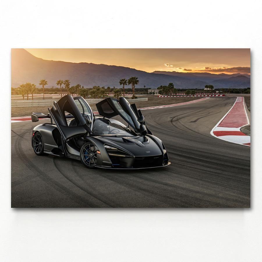 Sport Car McLaren di Senna Super Car Poster Wall Art immagini della pittura Wall Art per Living Room Home Decor (nessuna pagina)