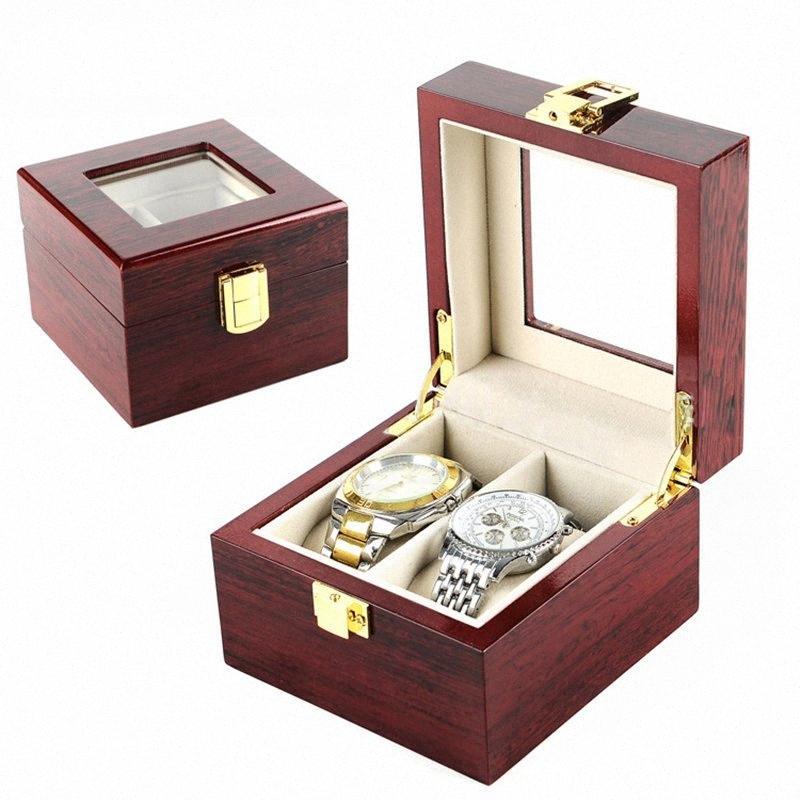 İsviçreli Pahalı İzle Ekran Koleksiyon Kırmızı 2Grids BkV7 # için Kutu Dikdörtgen Saklama Kutuları Ambalaj Lüks Saat Kutuları MDF Kol
