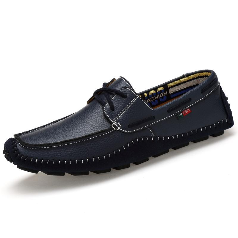 Scarpe alta qualità Vera pelle Moda Uomo Mocassini di guida morbida appartamenti casuali Scarpa 36 - 47