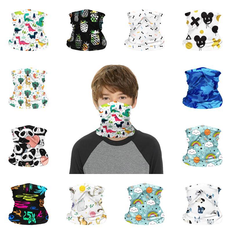 Sciarpa Shield Bandana collo DHL bambini Ghetta fumetto Bandane coprire il volto multifunzionale Face per ragazzi e ragazze Sport Outdoor B99F