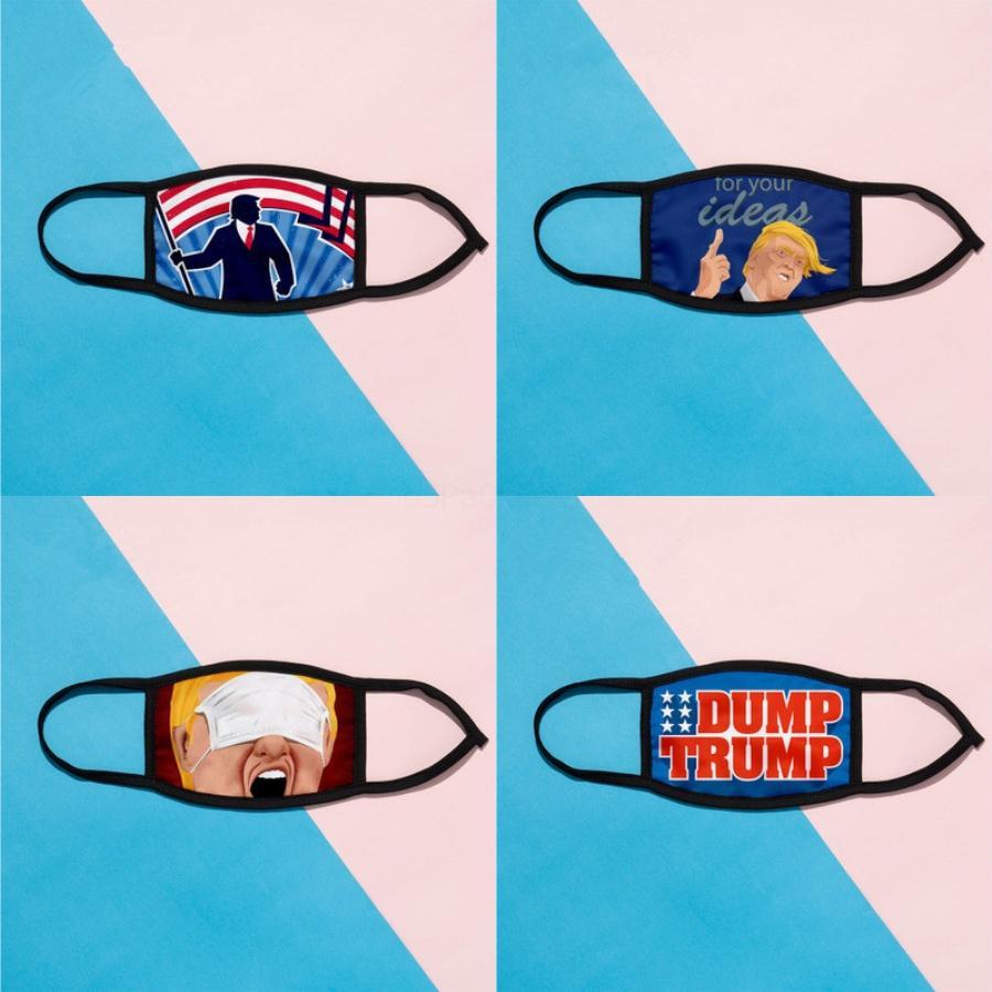 2020 Cara máscara máscaras elecciones estadounidenses lavable impresión a prueba de polvo ciclo al aire libre del cuello la bufanda mágica del pañuelo Máscara Diseñador LJJ # 65 # 371 # 939