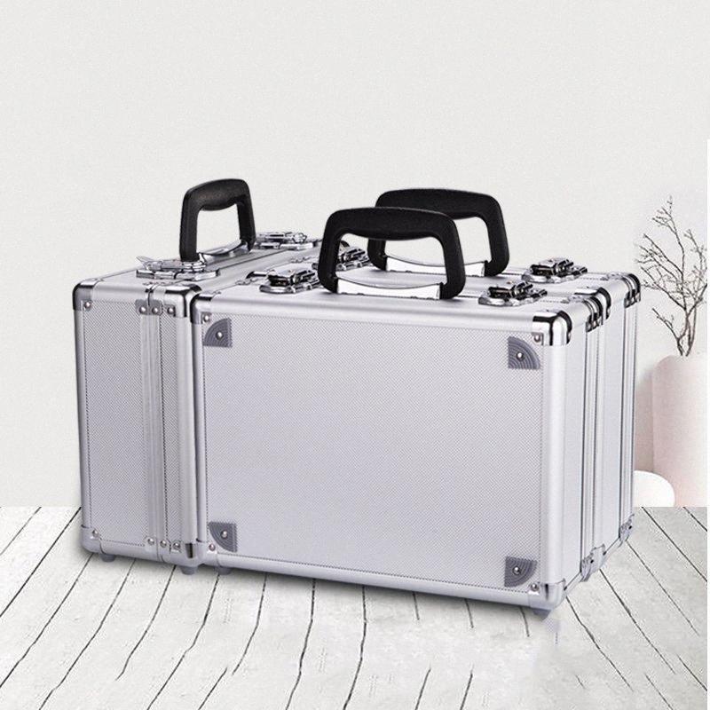 twji Portátil toolbox Caso liga de alumínio Tool Box Home Storage Box Mala de viagem Bagageira Com Esponja #