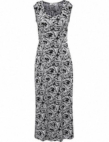 Womens Dress Aphratti Womens Boemia girocollo maniche Spalato maxi estate del vestito Juniors partito Sun Dress 6zM8 #