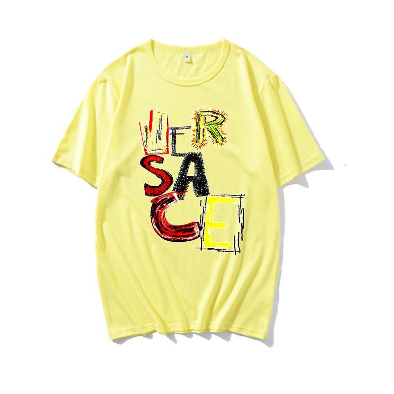 homem 20SS mulheres ocasionais t-shirt mangas curtas Vermelho Amarelo Azul Verde Cinzento brancas moda roupa preta T outwear tee partes superiores de qualidade