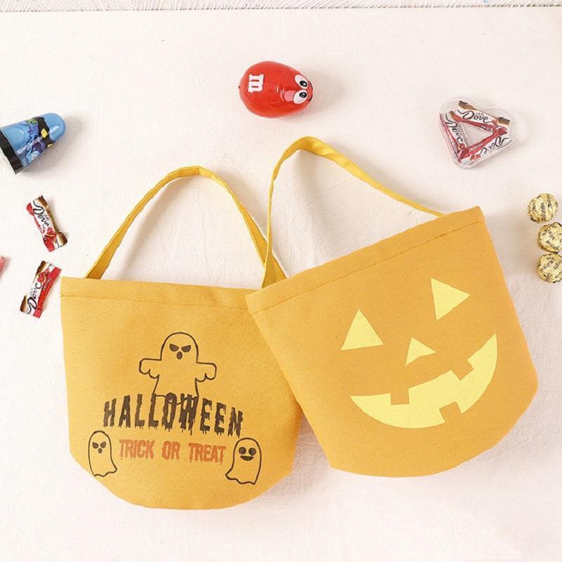 Хэллоуин лечение стилей стилей хлопка конфеты конфеты 8 или ведро фестиваль сумочка для детей тыквенные призрачные призрачные поставки Phukv