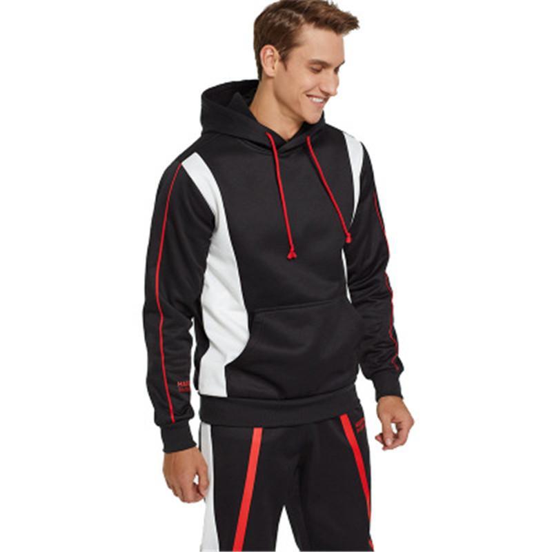 Man Combat Team форменные наборы Мода Длинные рукава пуловер Толстовка Брюки Sportwear Дизайнер Сыпучие Повседневный Карман с капюшоном Tracksuit