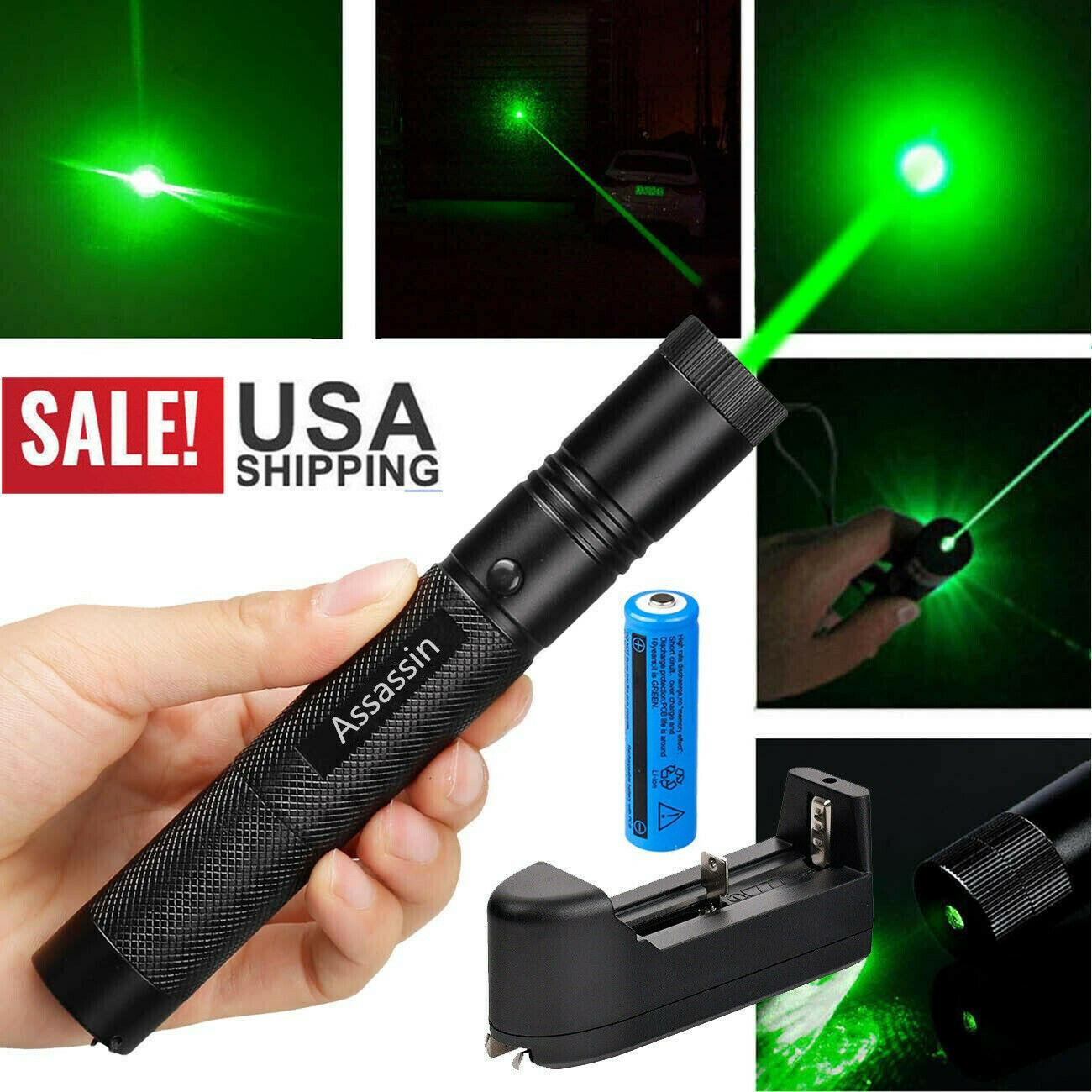 10 Miles Laser Pen Pointer Green Lights Lazer Light Adjustable Visble Lazer Lamp