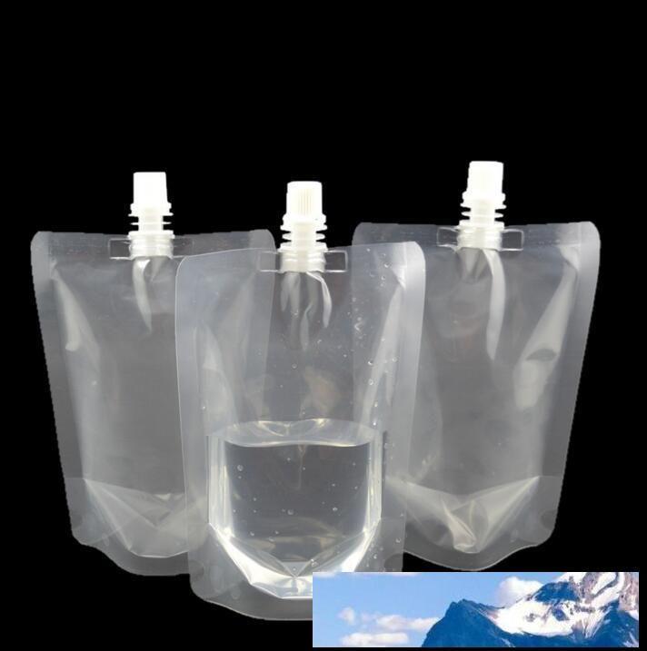 Ponte de pie 350ml Bebida de envases de plástico bolsa Boquilla bolsa de jugo de leche bebida del café de cobertura líquido bolsa de bebida bolsa nt