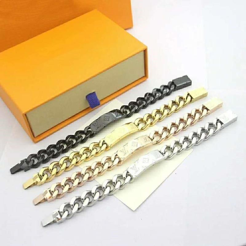 Nova cadeia galvanizados grossa de ouro de quatro cores opcionais mens designer de super hot selvagem pulseira masculina