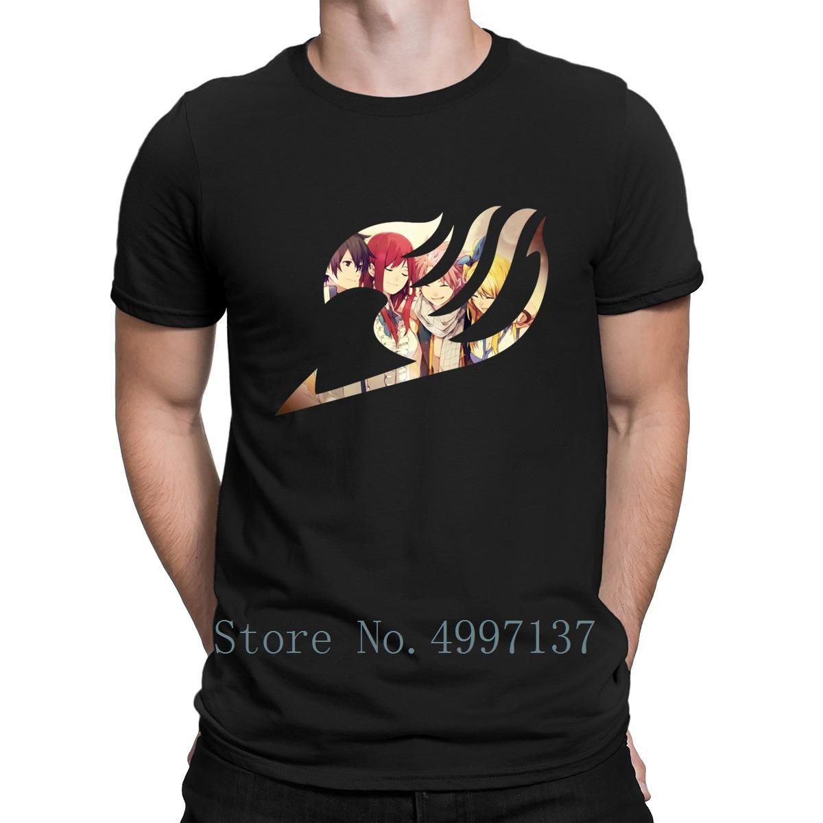 Fairy Tail Organic тенниска Формальное Fit S-3XL Printed Забавный Повседневный Формальное с коротким рукавом Летняя рубашка