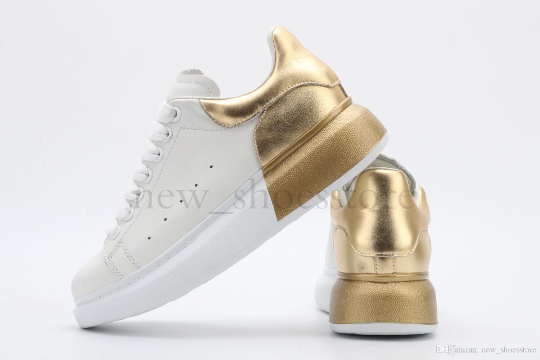 Designer Homens Mulheres Sapatilha Casual Moda Plataforma Formadores Luminous fluorescentes Shoes Cobra Voltar Chaussures couro Pour Hommes