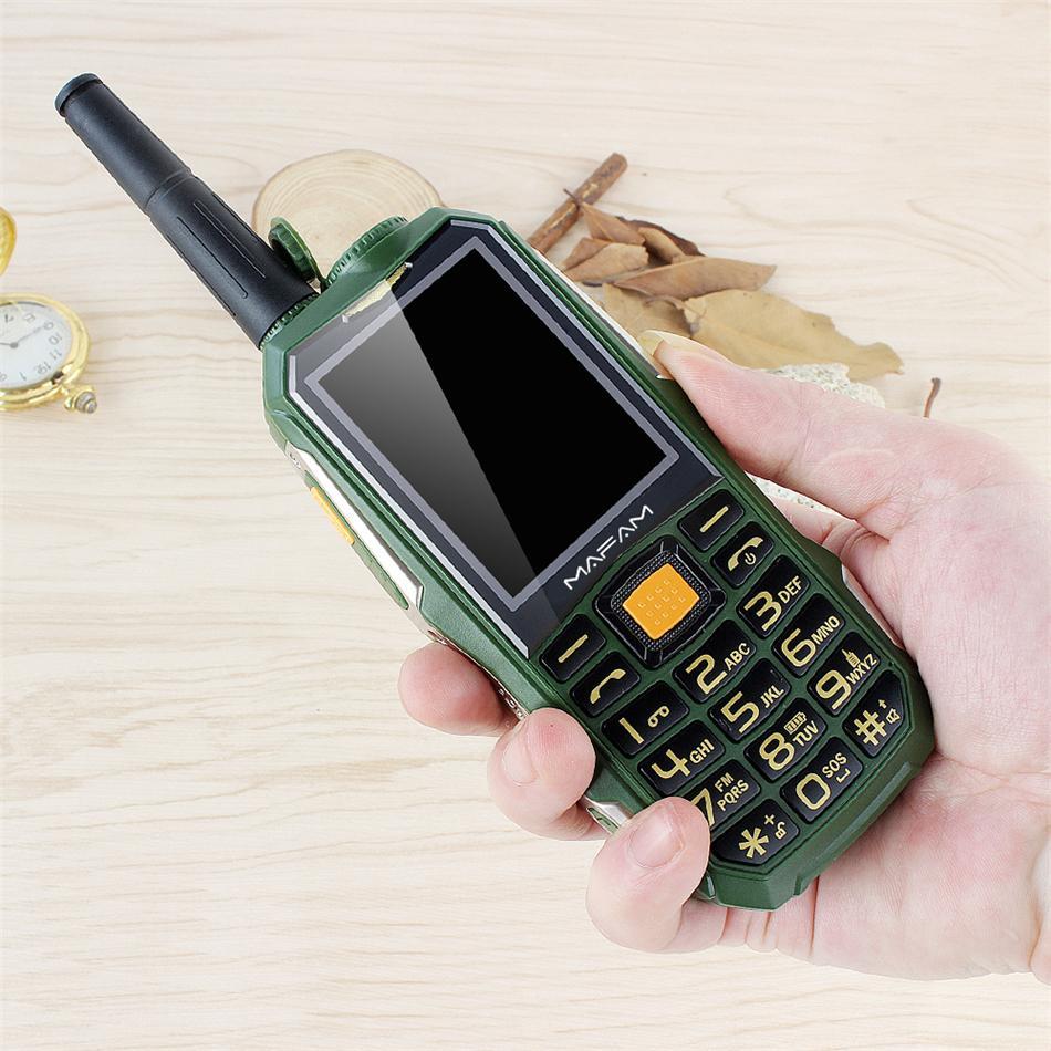 Unlocked Original Mafam Rugged Shockproof Outdoor Mobile Phone UHF Hardware Intercom Walkie Talkie Belt Clip Powerbank Facebook Cellphone