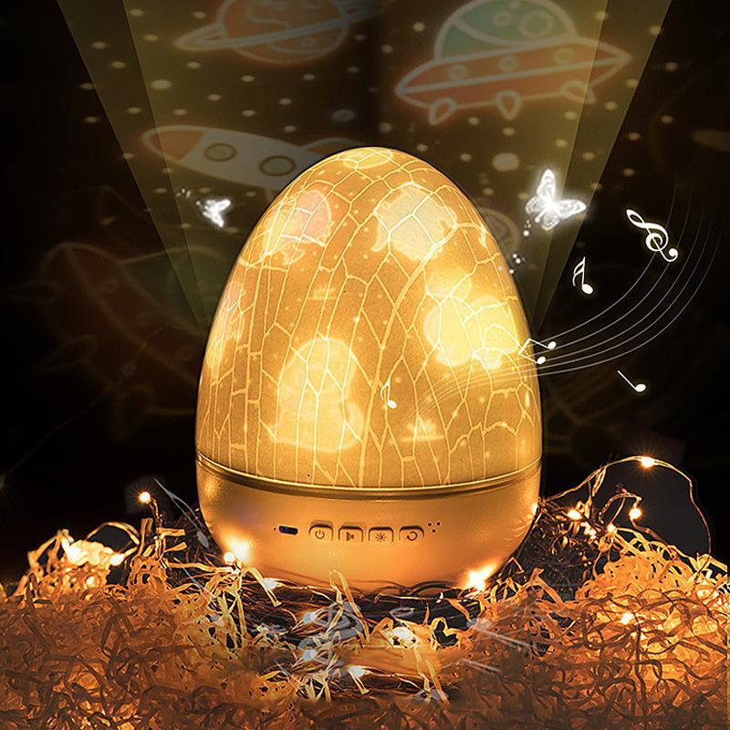 LED 프로젝터 블루투스 음악 별이 빛나는 하늘 프로젝터 램프 크리스마스 선물 침대 옆 밤 빛 새로운 이상한 달걀 껍질 10253