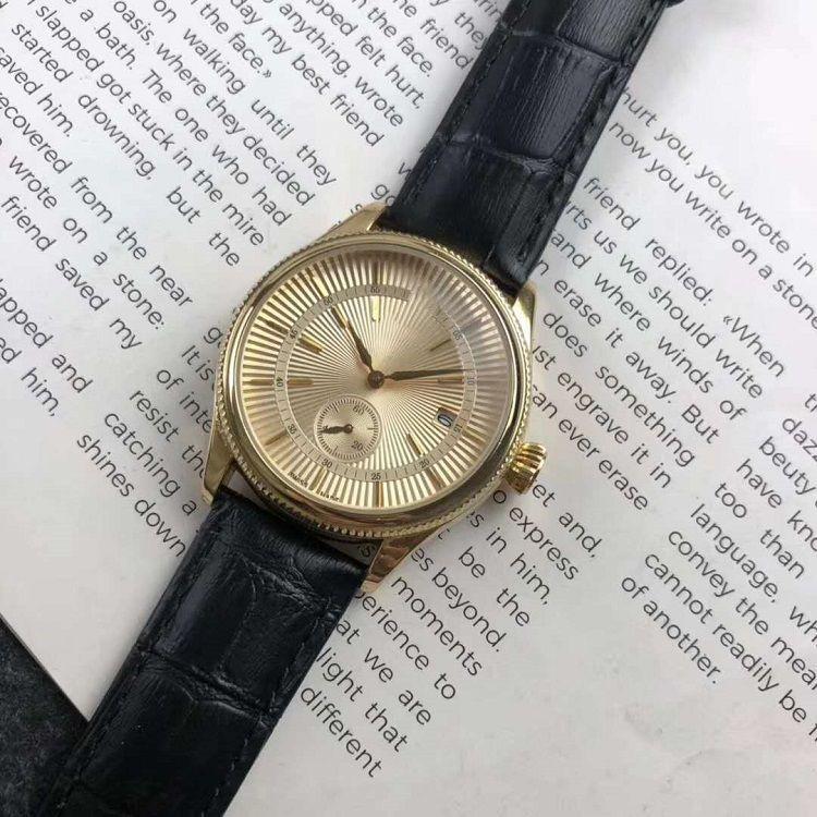 2020 nuevos mens relojes de lujo de ejecución Poco aguja segundo reloj de cuarzo relojes de diseño ROL Correa de piel accesorios de la marca de moda para damas