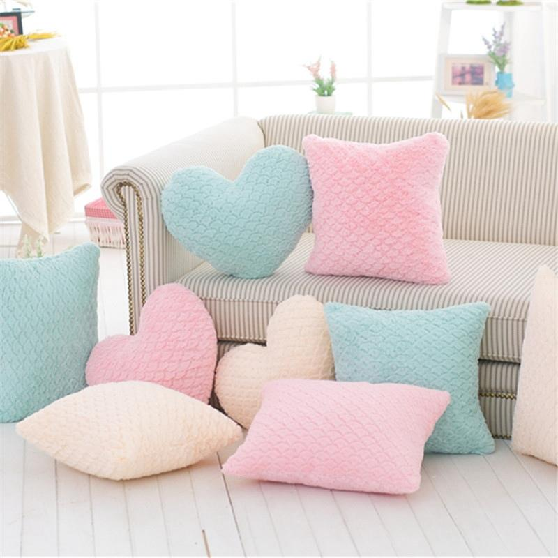 New Crown Plush Pillow Colorful Stuffed Soft Heart Square Rectangle Shape Throw Cushion Baby Kids Gift Girls Room Decoration MX200716