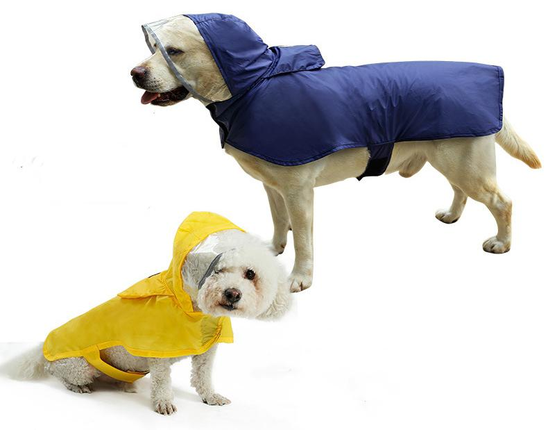 Hot Sale Waterproof Dog Raincoat Portable Large Pet Raining Jacket Pet Waterproof Clothes Lightweight Rain Jacket