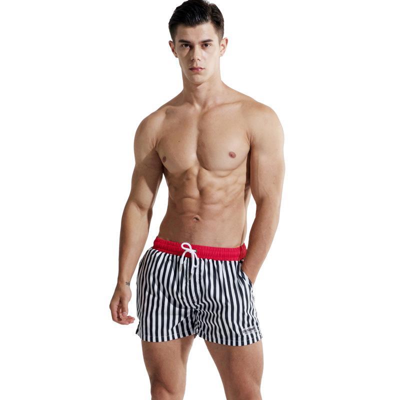 Bicchierini del bordo di 2020 Desmiit Surfing Beach Shorts Pantaloni Patchwork Bermuda Surf nuoto brevi Breve Dry strisce Costumi da bagno maschile