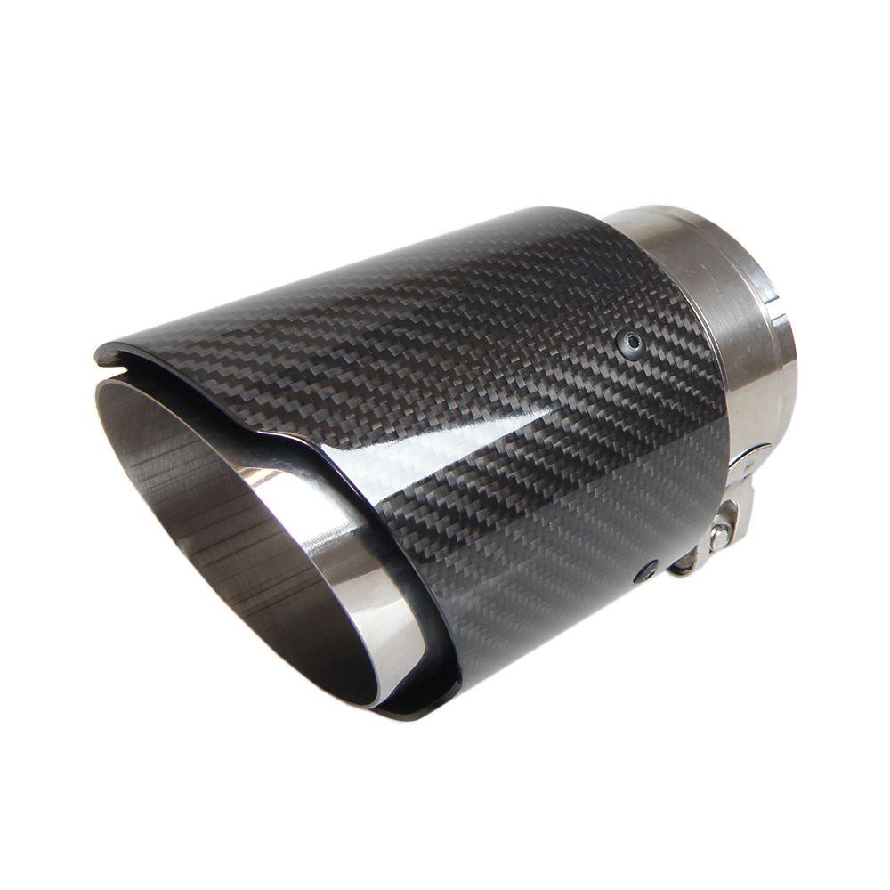 NO LOGO العادم Akrapovic نمط من ألياف الكربون السيارات تلميح الخمار الذيل الأنابيب لامع اللون الأسود