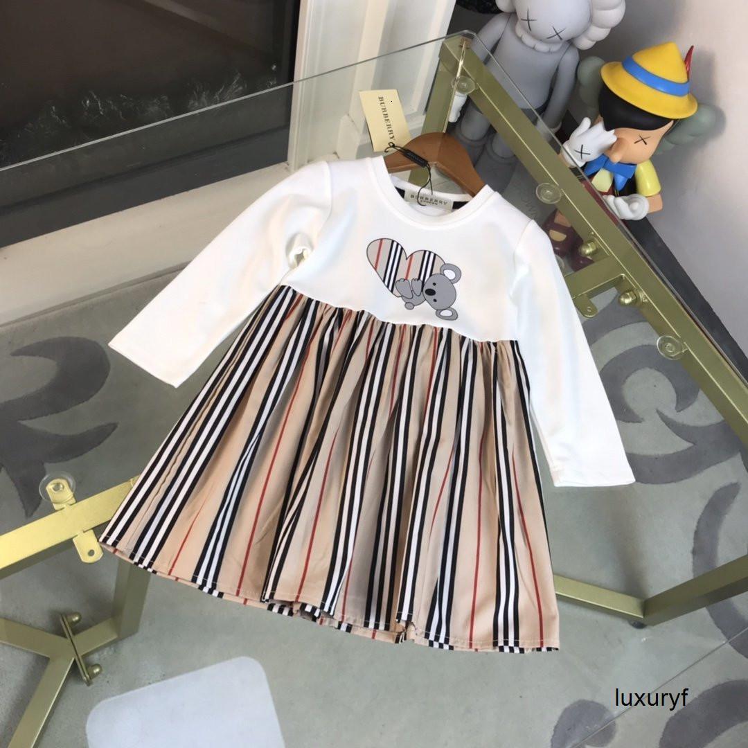 Doce fresco Tide Versão Moda Classic Meninas Impresso vestido de alta qualidade