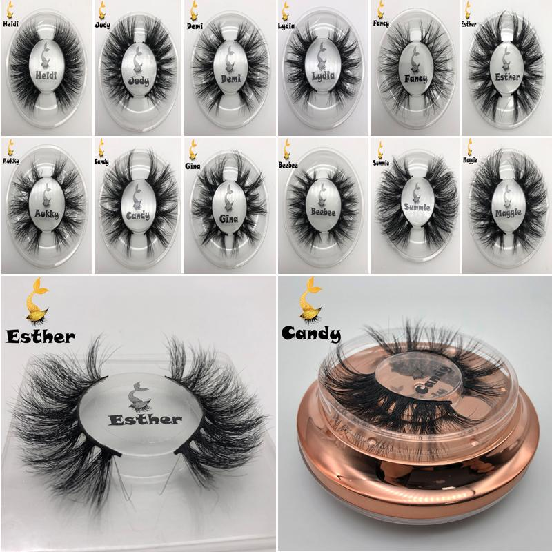 Mink Wimpern falsche Wimpern 3D Mink Wimpernverlängerung 5d Mink Lashes starke lange dramatische Auge peitscht Fluffy Make-up Schönheit Werkzeug