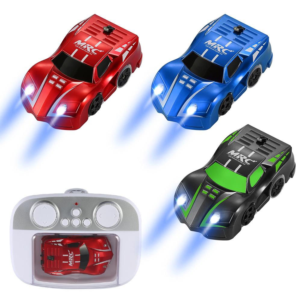 Fashion RC stunt car with LED Lights 360 Degree Rotating Stunt Toys Remote Control Electric car birthday gift Climbing Vehicles Y200317