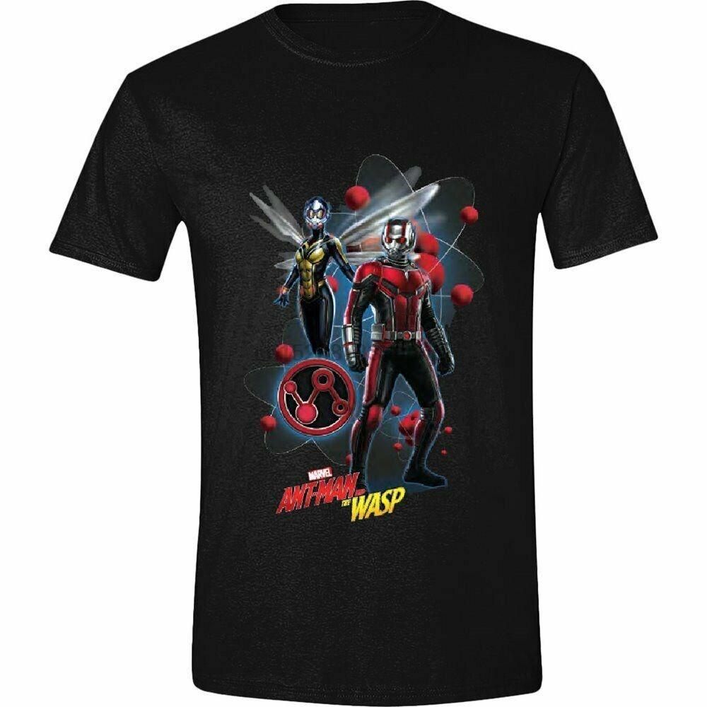 Abbigliamento Ant-Man y los personajes de la avispa Pose Negro para hombre de la camiseta del verano 100% algodón cuello de O más el tamaño de tapa de la camiseta Tee