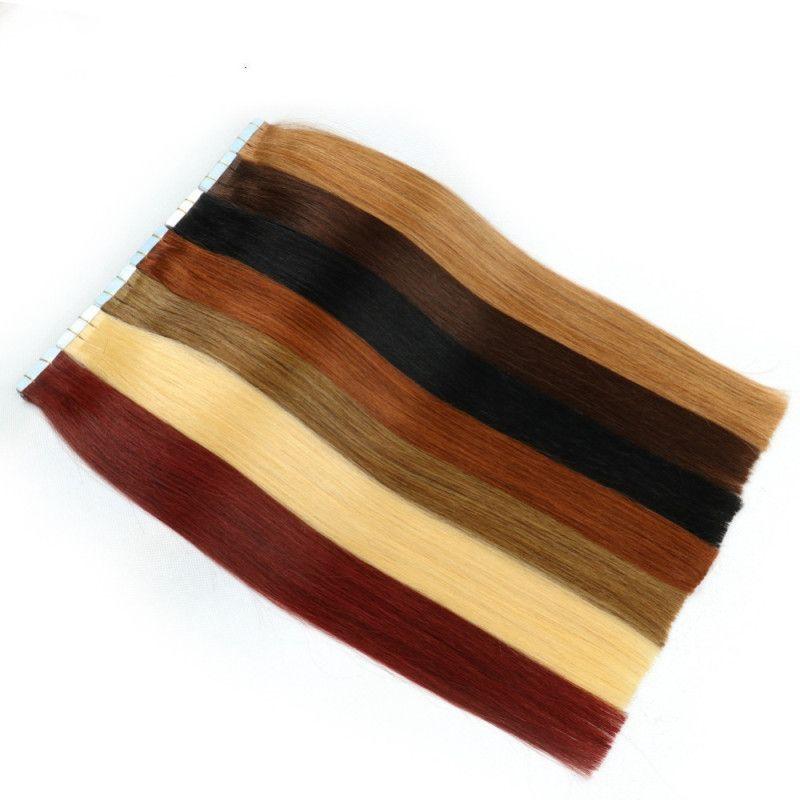 Tape In Menschenhaar-Verlängerungs-Haut-einschlag 100g brasilianische Haar-Doppelt-Seiten-Adhesive Günstige mehr Farben Freies Verschiffen
