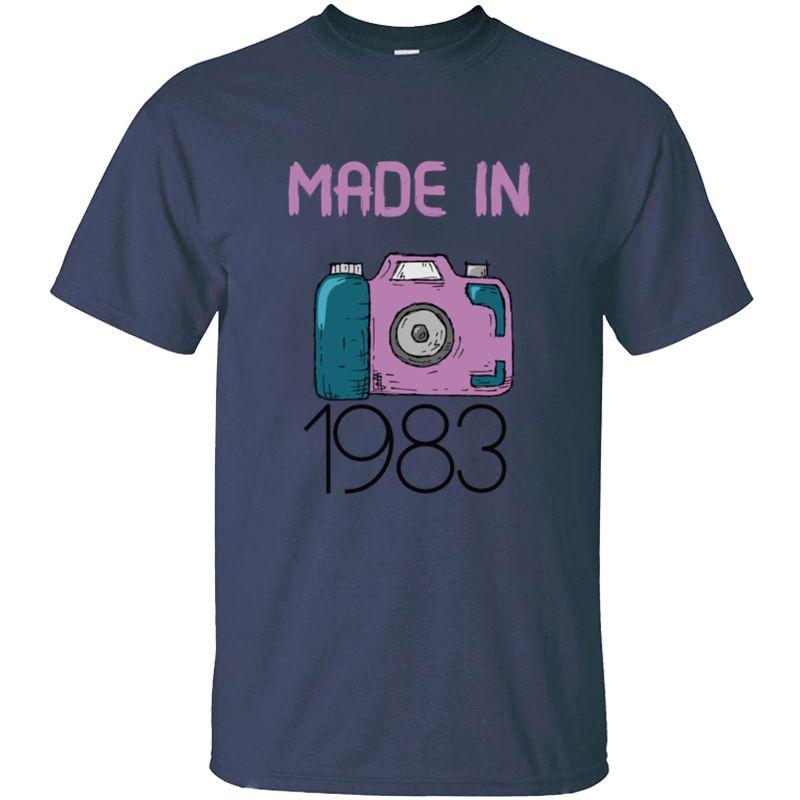 Imprimir el envío hecho en 1983 de la camiseta del hombre del ejército anti-arrugas verde Streetwear Comics camisetas Camisetas 2020 Hiphop Tops