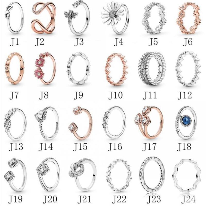 Argent 925 Anneaux New Styliste Bijoux Femmes Bagues diamant Bague de fiançailles Bague de mariage pour les femmes