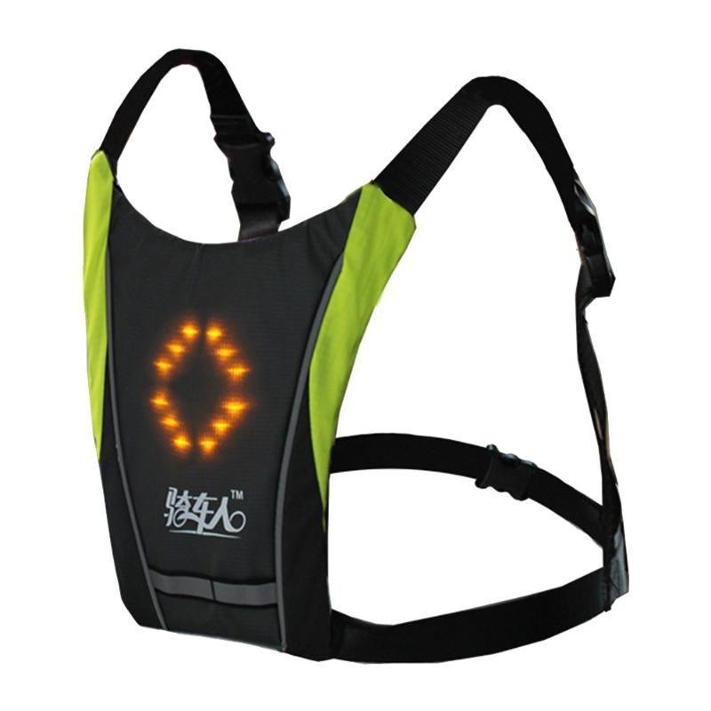 Chaleco de ciclismo inalámbrica camping reflectantes Actividades accesorio de seguridad Advertencia recargable control remoto LED Light Emitting