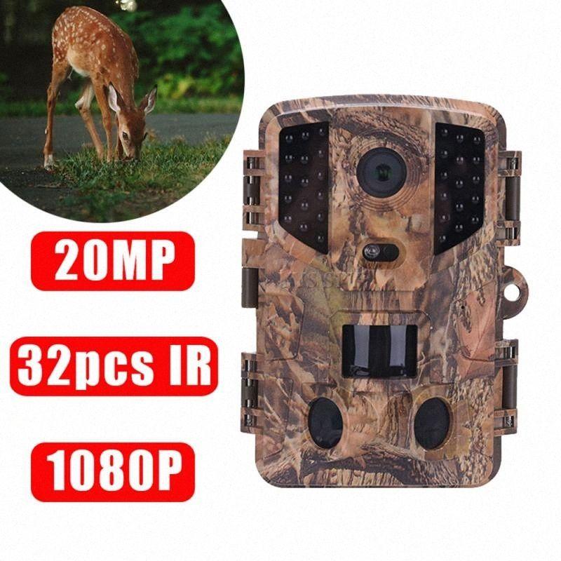 Мини-20MP Спорт Охота камеры Trail 1080P IP66 ИК-светодиодов ночного видения движения PIR PR900 Открытый Wildlife животных видеокамеры 0OEd #