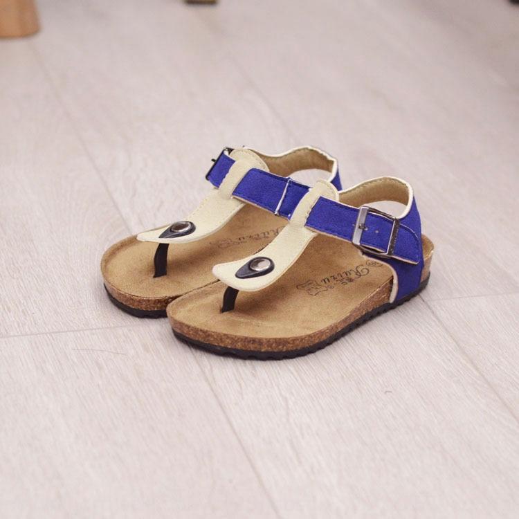 2020 Summer boy boy girl cork shoes Boken slippers one-line drag Flip-flops tide Slippers beach Korean style feet