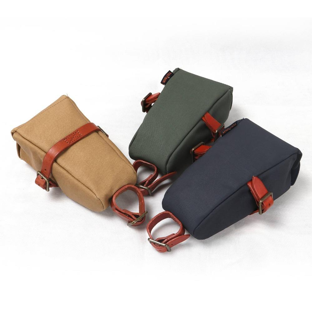Tourbon Outdoor Vintage Bicycle Bike Seat Tail Pouch Bag Phone Key Case Wax Canvas Water Repellent Cycling Accessories MX200717