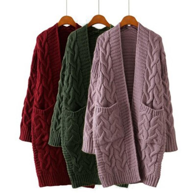 LASPERAL coréenne d'hiver 2020 Les femmes de New vrac à manches longues en tricot Cardigan épais manteau d'hiver Cardigans Pull