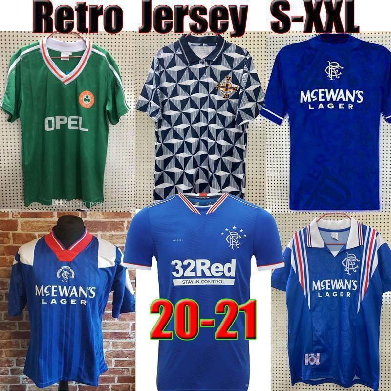 Irlanda Retro Jerseys de fútbol TOP TAILANDIO 1990 1992 1994 94 Camisa de fútbol vintage Equipo Nacional del Norte 90 93 Copa Mundial Verde Blanco