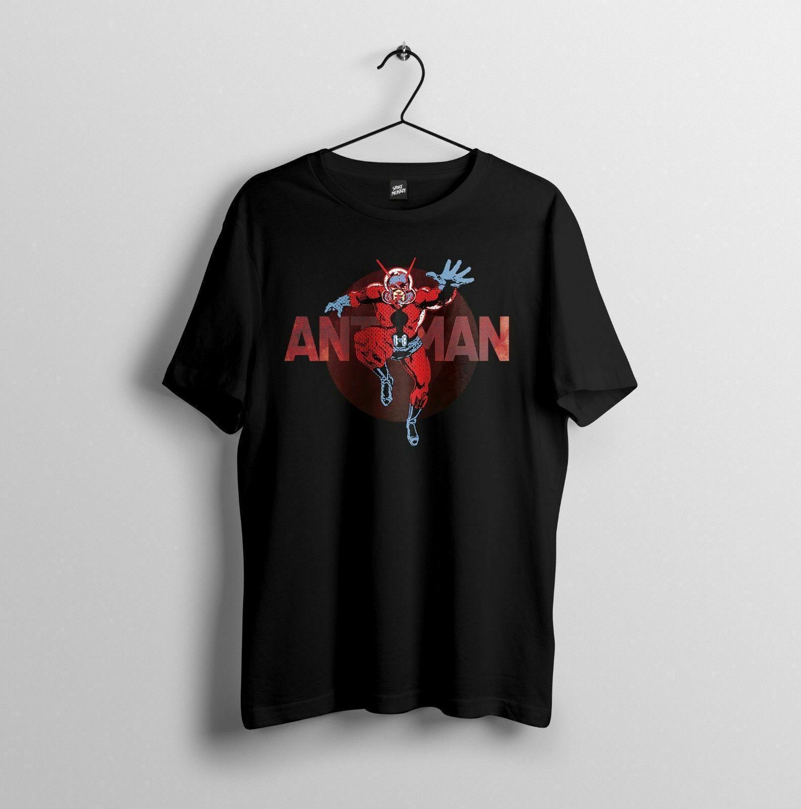 NUEVA Antman, ANT MAN MARVEL LOS VENGADORES CÓMIC DE LA VENDIMIA tamaño de la camiseta camiseta de algodón de la manera libre del envío TOP PLUS TAMAÑO TEE