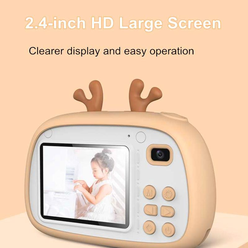 Camera Open school season gift 2 Inch HD Screen Chargable Digital Mini Kids Camera Cartoon Cute Toys Outdoor Photography Props