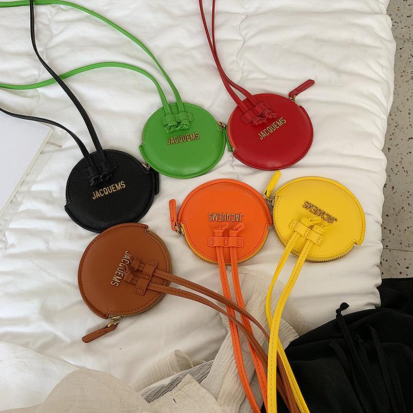 Cocodrilo pequeñas y redondas monedero de las mujeres marca de diseño mini señora la bolsa de mensajero del bolso de mano bolsa de 2020 nueva chica de la cremallera del hombro Crossbody