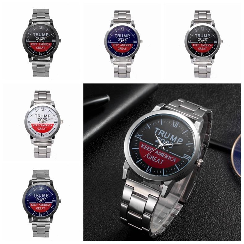 Trump Armbanduhr Trump 2020-Bügel-Uhr Retro Brief gedruckt Unisex-Quarz-Uhren-Party Favor Armbanduhr 5 Styles CCA12314 30pcs