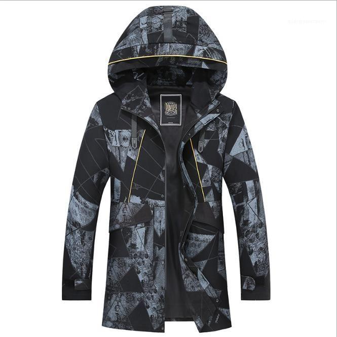 Дизайнер куртки осень зима плюс размер капюшоном вскользь Ветровка Мода черный кобель одежда 2020 Mens Luxury