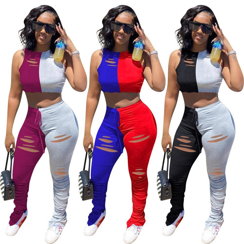 Tasarımcı yanmış çiçek mikro alevlendi pantolon womens dikiş bölünmüş kırışıklık pantolon bölünmüş alevlendi spor pantolon Plus Size S-3XL womens