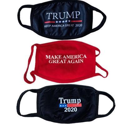 Conception 3D Trump Masque Masques coupe-vent coton bouche adulte américaine Élection États-Unis Mask Cartoon Calico EEA1844