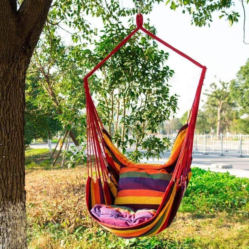 Açık Kamp # YL5 yüklemek için Yastıklar Easy ile Taşınabilir Hamak Çadır Asma Salıncak Sandalye Hammock