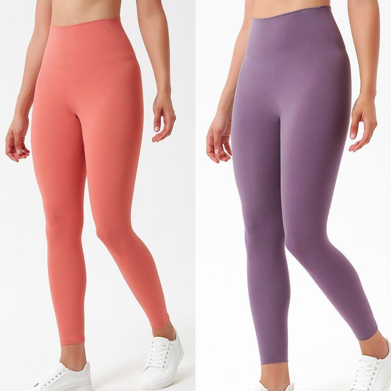 Solid Color Women Yoga Pants High Waist Stylist Leggings Gym Clothes Womens Pants Workout Leggings Lady Elastic Dancing Bodysuit